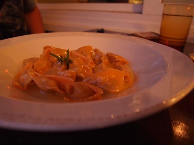 veal and porcini ravioli